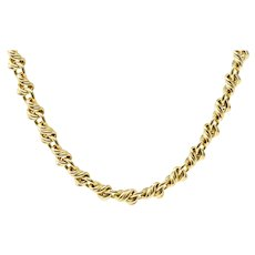Tiffany & Co. 18K Yellow Gold Curb Necklace