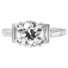 Cartier Art Deco 1.62CTS Diamond & Platinum Engagement Ring, GIA