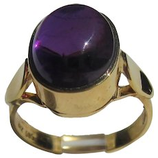 14kt Cabochon Amethyst Ladies Ring