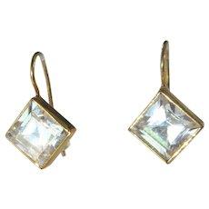 9 kt Cubic Zirconia Drop Earrings