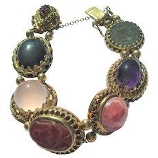 Large Gemstone Slide Bracelet