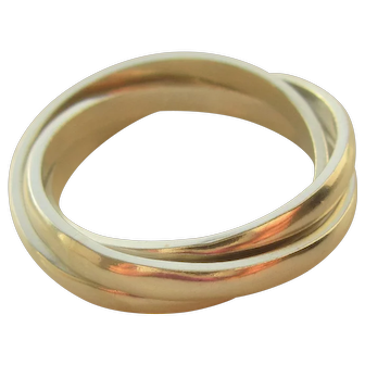 Sterling Silver Tri Rolling Ring Handmade