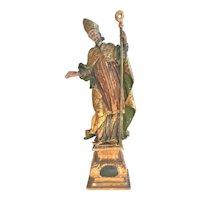Saint Erasmus Statue Baroque Period