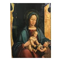 Madonna Enthroned With Child Jesus & St. John