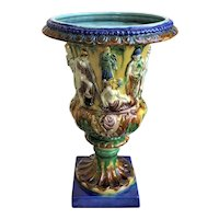 Majolica Vase with Classical Figures