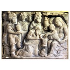 Alabaster Nativity Scene, Nottingham, circa 1500