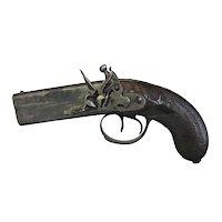 Double Barrel Flintlock Pistol by Smith, London, C. 1810