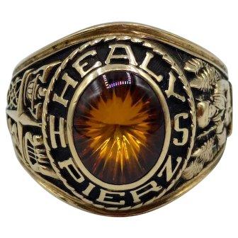 Jostens 1979 Pierz Healy High School Class Ring set in 10K Yellow Gold