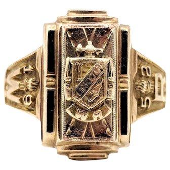Herff Jones 1952 Class Ring Lincoln High School 5.9g 10k Yellow Gold Size 9