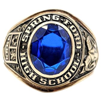Balfour 1970 Class Ring Spring Ford High School 9g 10k Yellow Gold Size 7.25