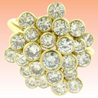 18kt Vintage Bezel Encased Diamond Cocktail Ring