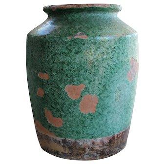 European Green Terracotta Pot