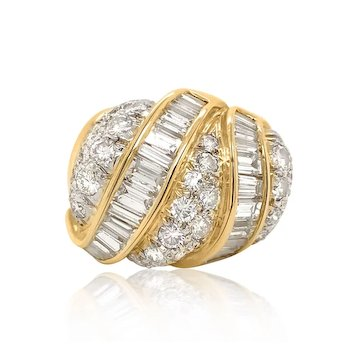 Diamond and 18K Gold Ring