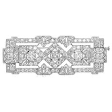 Art Deco Rectangle-shaped Diamond Brooch
