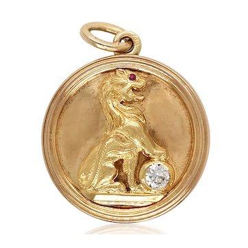 Romanoff Enamel Diamond Gold Locker