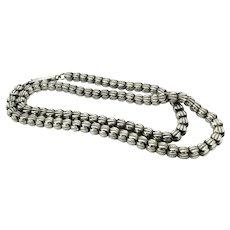 Antique Victorian Silver Chain Necklace
