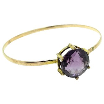 Antique Victorian Amethyst 9ct Gold Bangle Bracelet