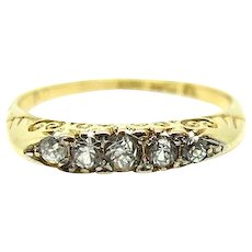 Antique Victorian 1849 Diamond 18ct Gold Ring