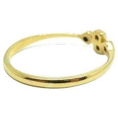Antique Edwardian 18ct Gold and Platinum Diamond Ring