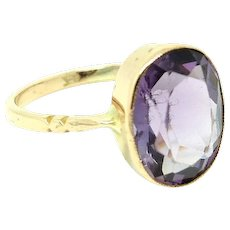 Antique Victorian Amethyst 9ct Rose Gold Ring