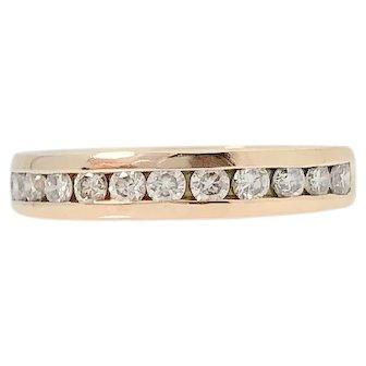 Handmade Rose Gold Diamond Band -0.33ct - SI1/G-H