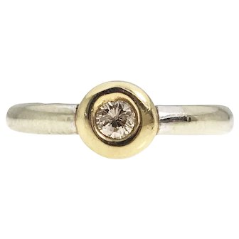 Two Tone Champagne Diamond Ring