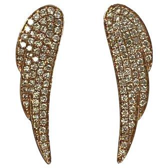 14kr Diamond Wing Earrings