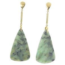 14ky Raw Emerald Earrings