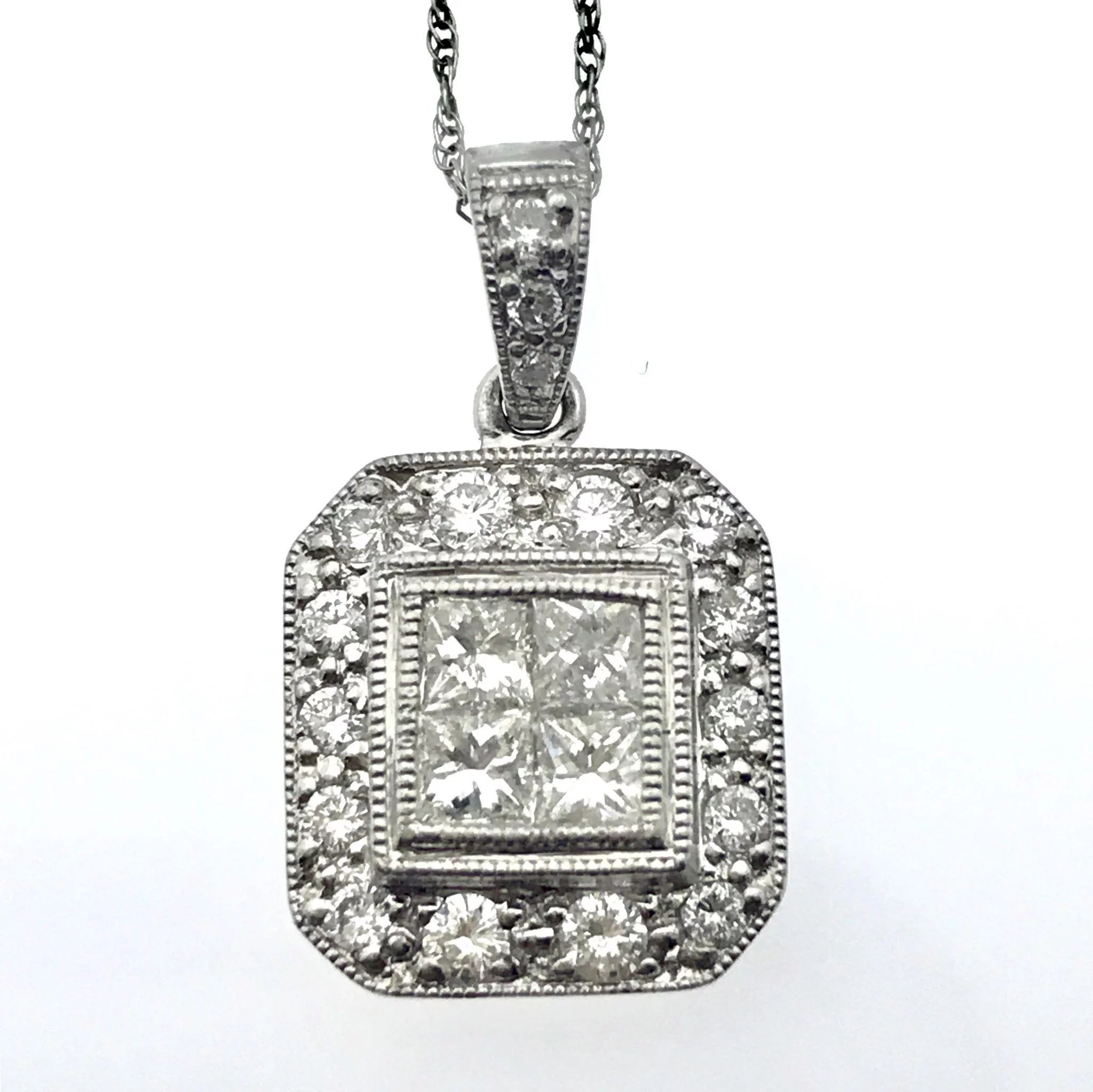 antique platinum product necklace cut diamond filigree art deco diamonds pendant in old european jewelers
