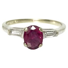 Super cute 14kw Ruby Diamond Ring