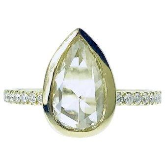 1.01ct Yellow Diamond 18ky Rings