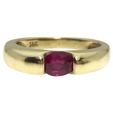 Round 18ky Ruby Ring