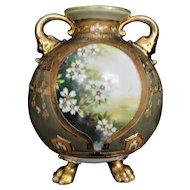 Antique Nippon Vase Panel Vase Circa 1911, BEAUTIFUL