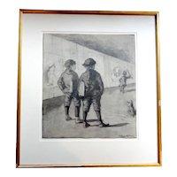 Robert Emmett Owen (1878-1957) Pencil Drawing Eric Pepe School of Art VERY RARE!!