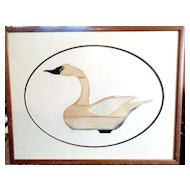 Arthur Nevin (1929-1995) Whistling Swan Decoy, Barnegat Bay, 1935 - COA -Aquatint Etching Artist Signed in Pencil 127/150