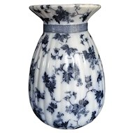 Ridgway Stoke On Trent Large Vase, Transferware Staffordshire England, Bordeaux Pattern, 19th Century