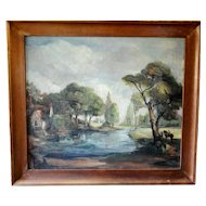 Elizabeth Parsons (1831-1897) Australian Landscape Artist, Oil on Canvas