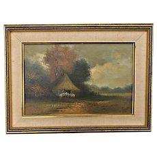 Dirk VERRIJK (1734-1786) Netherlands, Sheep Herder Landscape - Signed Verrijk