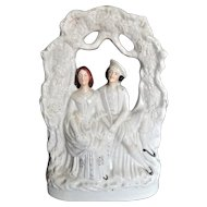"""STAFFORDSHIRE Robert Burns and Highland Mary 14"""" Tall, Large, c 1850"""