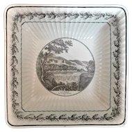 """Stone, Coquerel & Le Gros Paris Bowl, """"Vue D'Italie"""" Faience Bowl c 1810"""