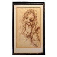 Nancy Reiner (1942-2006) Sketch Music Srtist Famous Album Cover Artist RARE