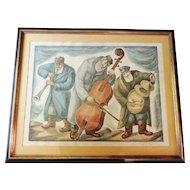 "Chaim Goldberg (1917-2004) Artist Proof ""Trio"" Signed"