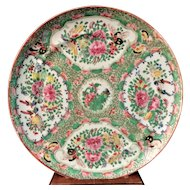 19th C Chinese Export Porcelain Rose Medallion Plate Dish Famille Rose Canton #4