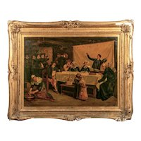 Henry Mosler, Colonial Genre Scene 19th Century