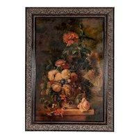 18th C, Van Huysum, Painting Still Life of Flowers,