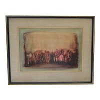 Joseph Kossonogi (1908 - 1981) Abstract Watercolor of Israeli Orchestra
