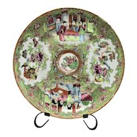 Antique Chinese Plate Famille Rose Famille Verte Plate Birds Flowers Butterflies