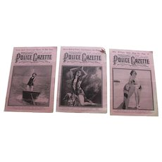 USA Police Gazettes International Edition set of 3 1929