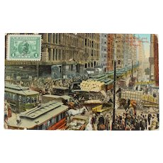 USA Chicago Dearborn and Randolph Street Postcard