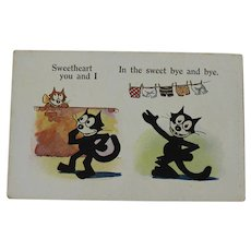 Postcard Felix the Cat